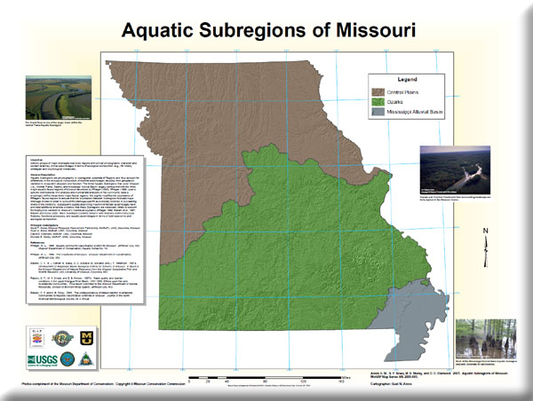Poster: Aquatic Subregions of Missouri