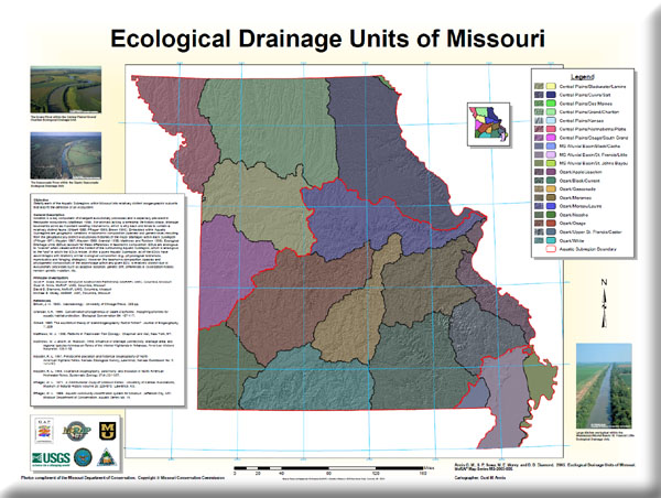 Poster: Ecological Drainage Units of Missouri