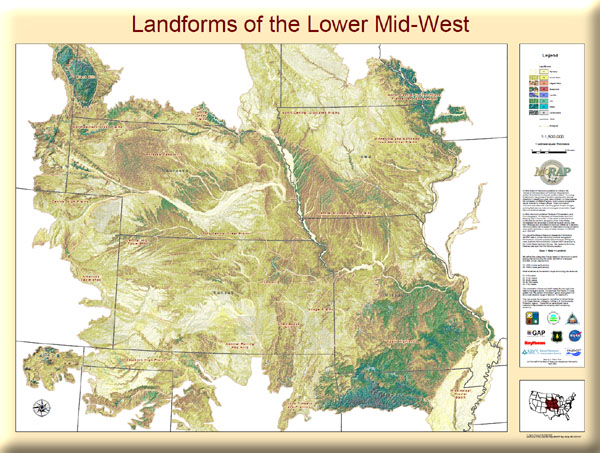 Poster: Landforms of the Lower Midwest