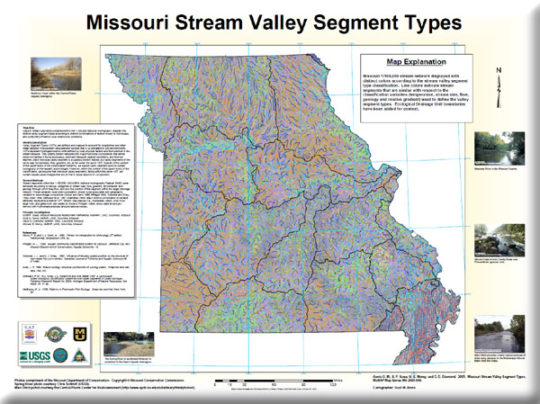 Poster: Missouri Stream Valley Segment Types