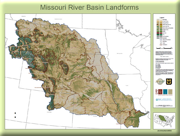 Poster: Missouri River Basin Landforms