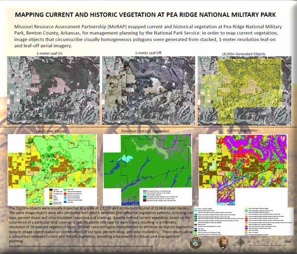 Poster: Mapping Current and Historic Vegetation at Pea Ridge National Military Park