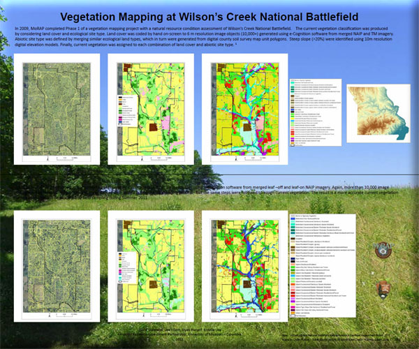 Poster: Vegetation Mapping at Wilsons Creek National Battlefield